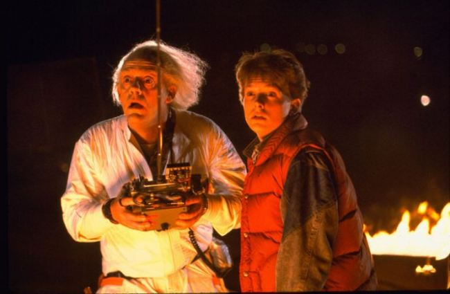 Film: Back to the Future (1985)  Shown from left: Christopher Ll